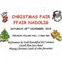 Christmas Fair - Treuddyn Village Hall - Saturday 28th November