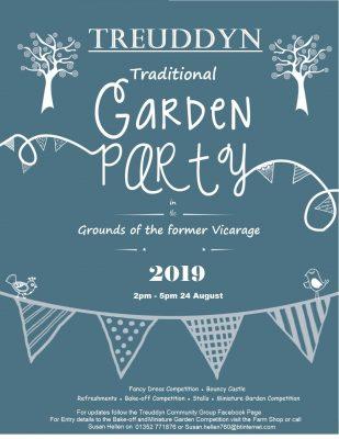 Treuddyn Traditional Garden Party - Sat 24th Aug, 2pm - 5pm